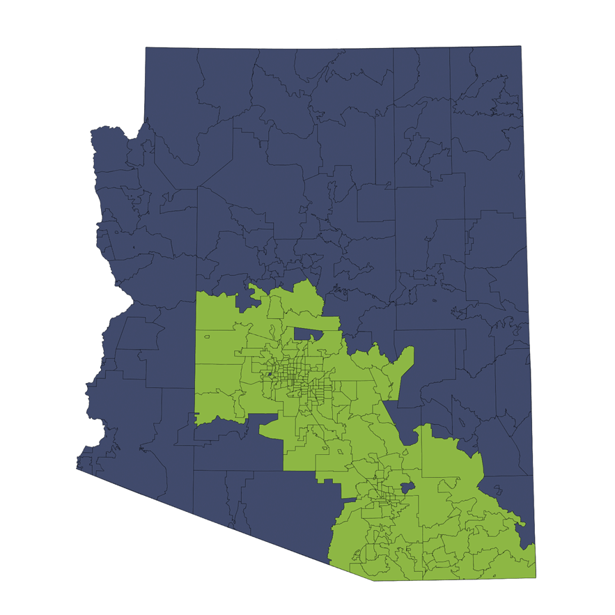 Location Services Repo/Vehicle Recovery Coverage Area by Zip Code: Arizona