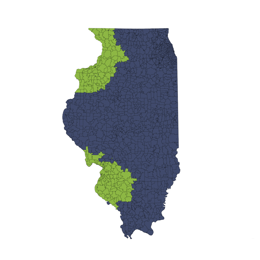 Location Services Repo/Vehicle Recovery Coverage Area by Zip Code: Illinois