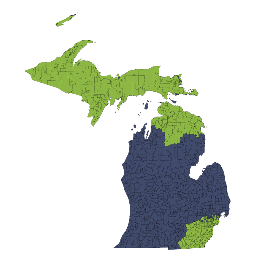 Location Services Repo/Vehicle Recovery Coverage Area by Zip Code: Michigan