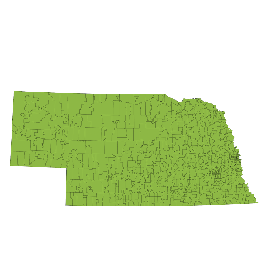 Location Services Repo/Vehicle Recovery Coverage Area by Zip Code: Nebraska