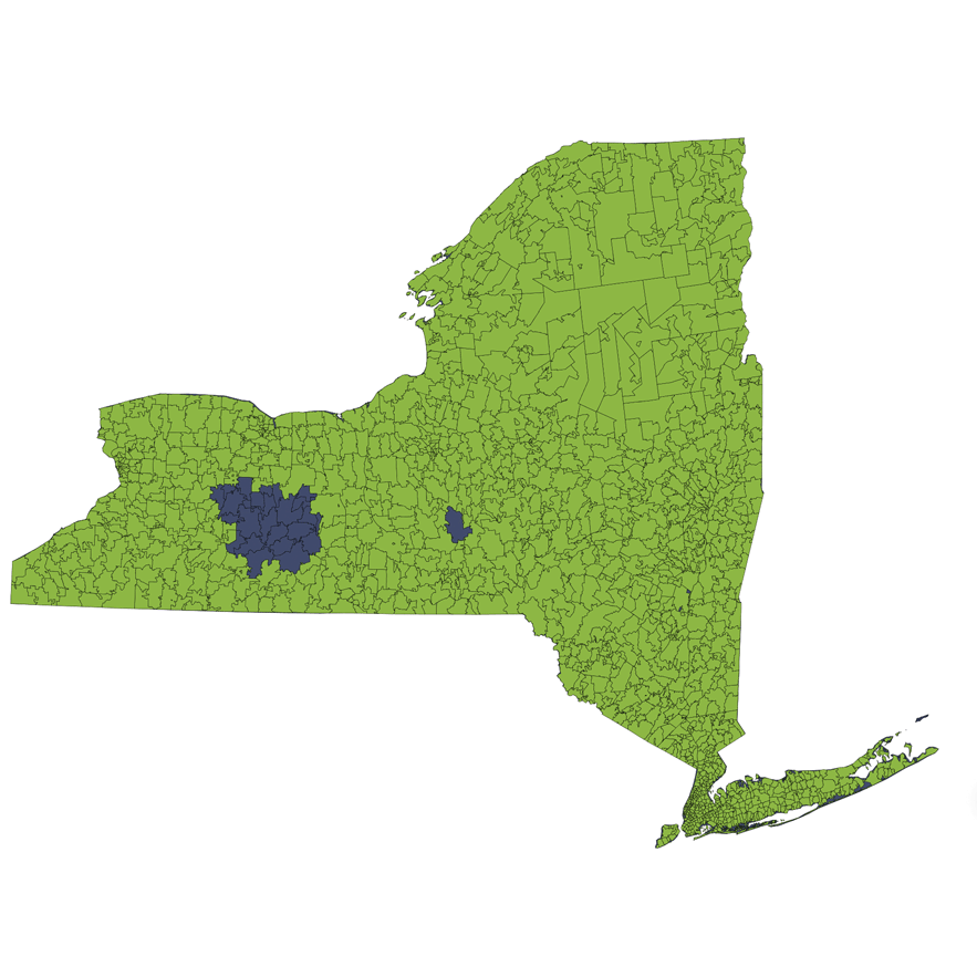 Location Services Repo/Vehicle Recovery Coverage Area by Zip Code: New York