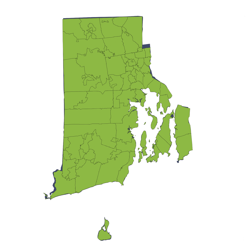 Location Services Repo/Vehicle Recovery Coverage Area by Zip Code: Rhode Island